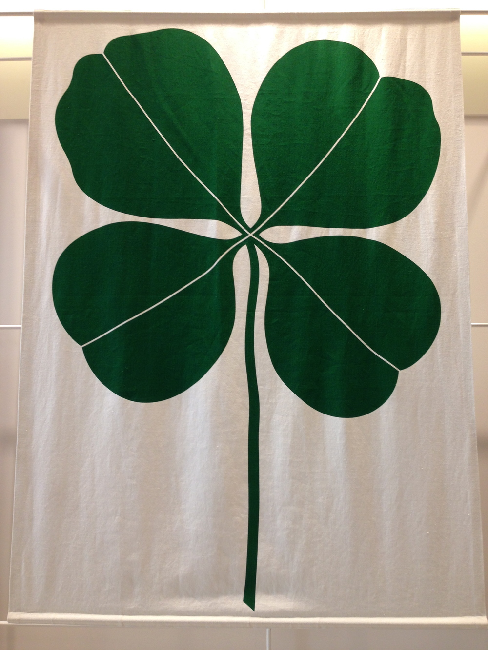 One of Girard's decorative panels with four leaf clover
