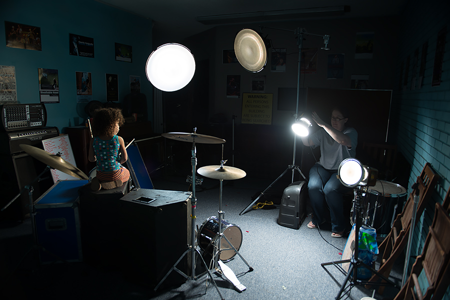 The 4-light setup for most of the practice room shots.