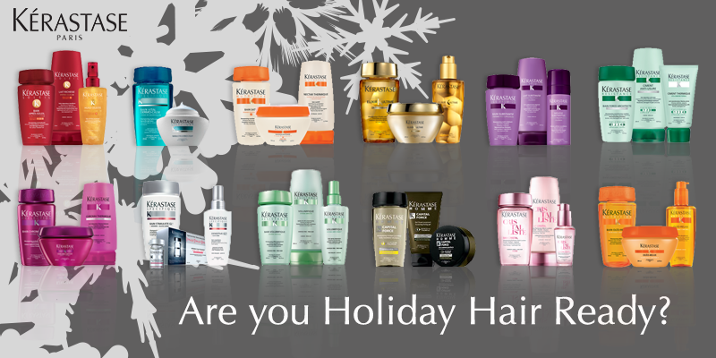 BuzzSalon, in Iowa City has Kerastase Holiday Hair product packages.