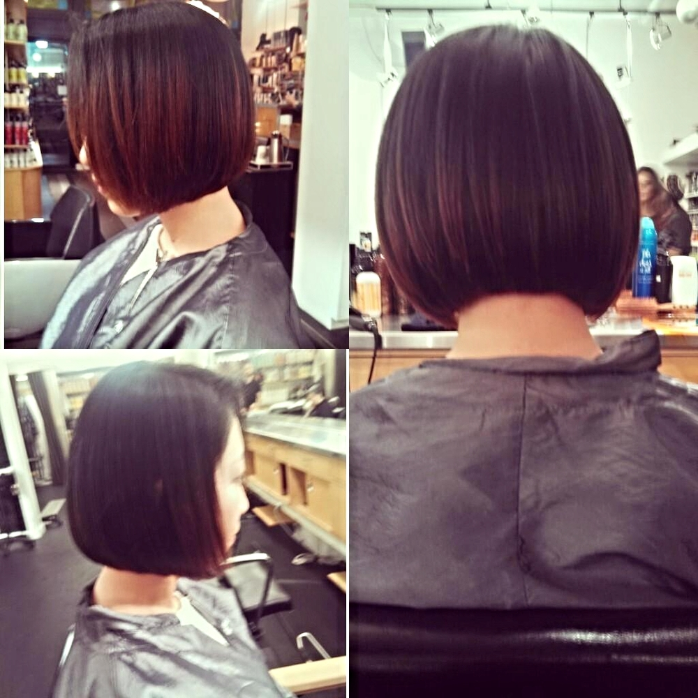 Mariah Joseph classic bob cut Buzz Salon Iowa City
