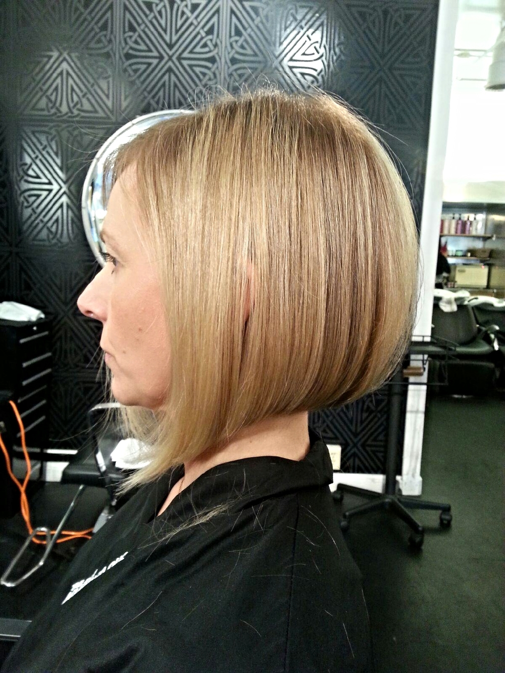 Dylan Morgan bob cut Buzz Salon Iowa City