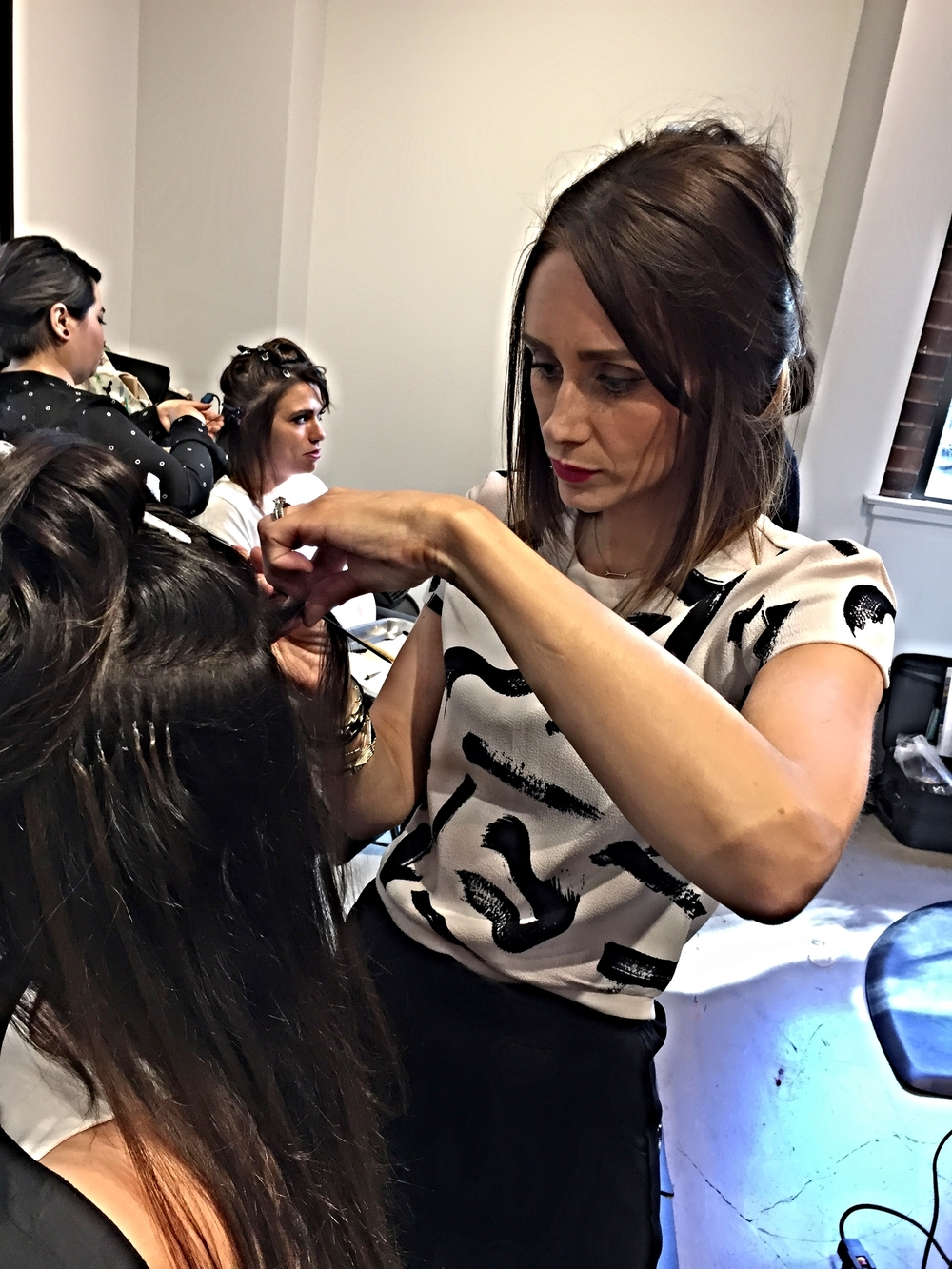And Mandy At Hair Extension Class In California Buzz Salon