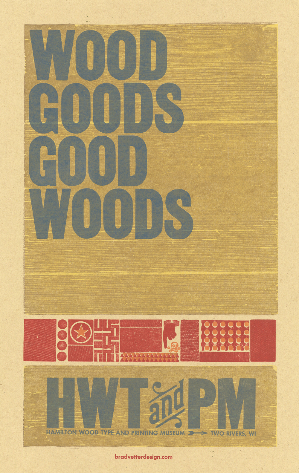Good Woods, 5-color letterpress benefit poster, 2012