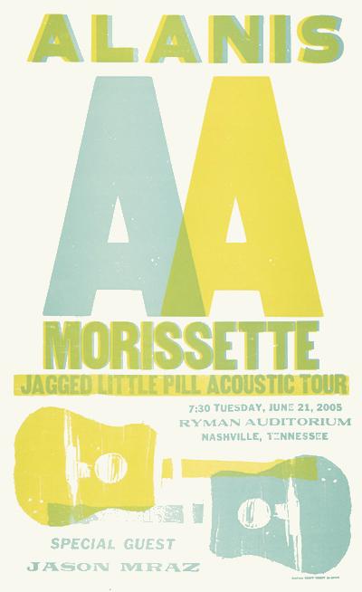 Alanis Morissette, 2-color show poster, 2005