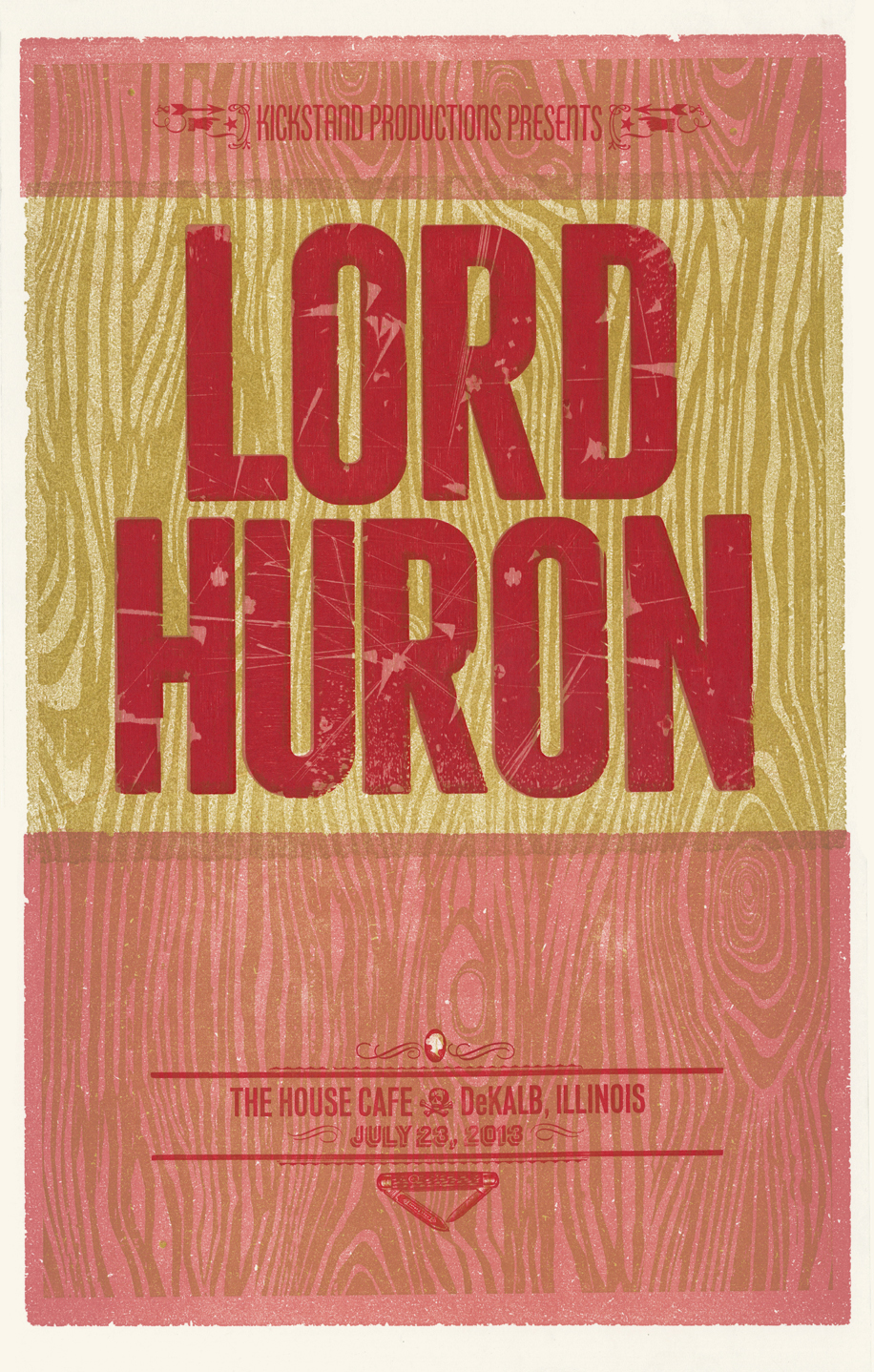 Lord Huron, 4-color letterpress show poster, 2013