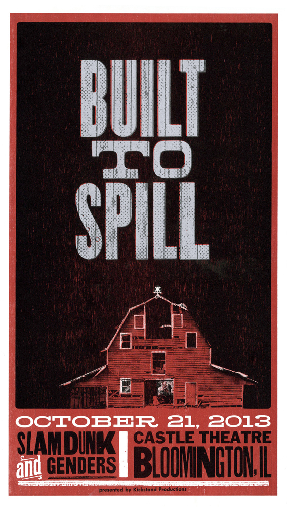 Built To Spill, 3-color letterpress show poster, 2013, available here!