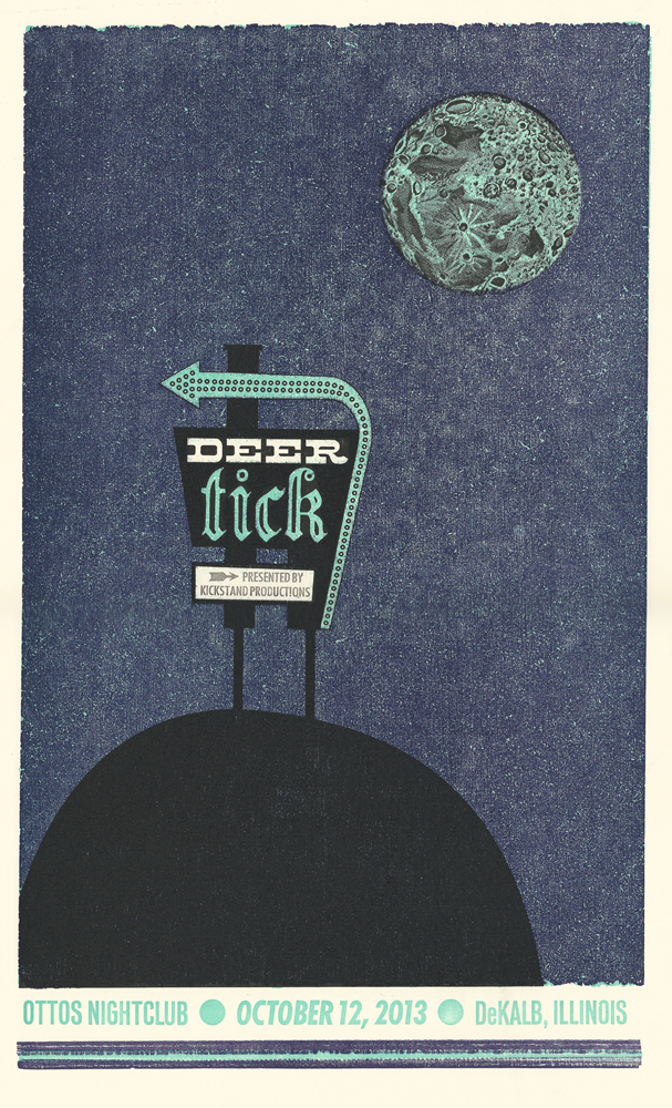 Deer Tick, 4-color show poster, 2013