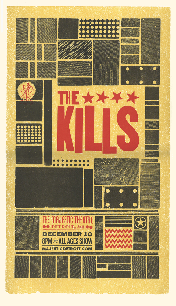 The Kills, 3-color letterpress show poster, 2013,  available here!