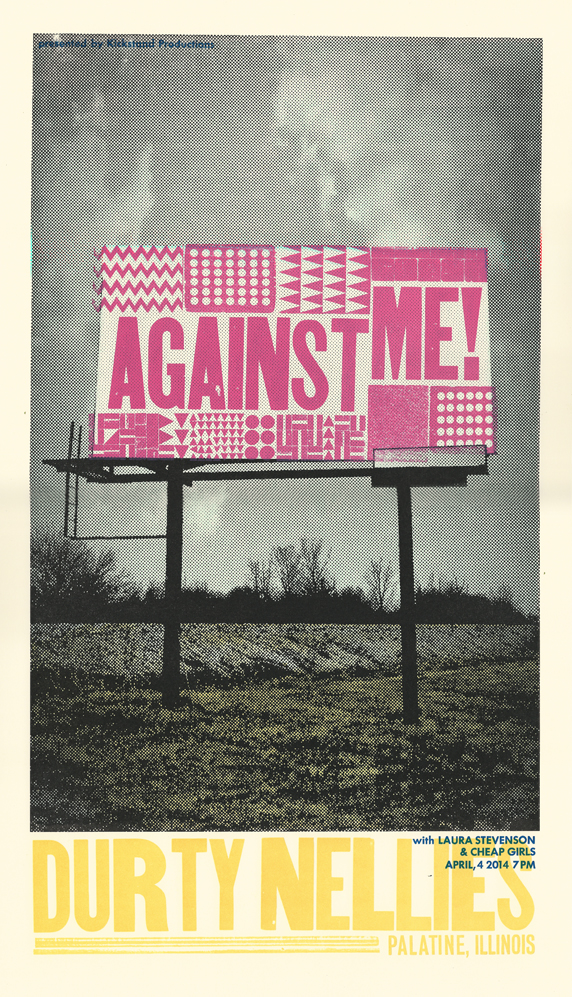 Against Me!, 5-color letterpress show poster, 2014, available here!
