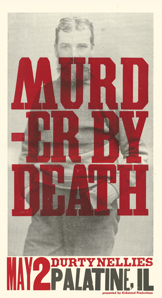 Murder By Death, 2-color letterpress show poster, 2014