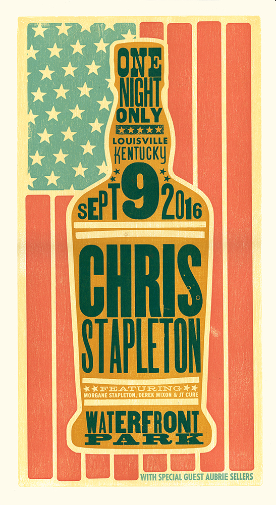 Chris Stapleton Louisville Poster