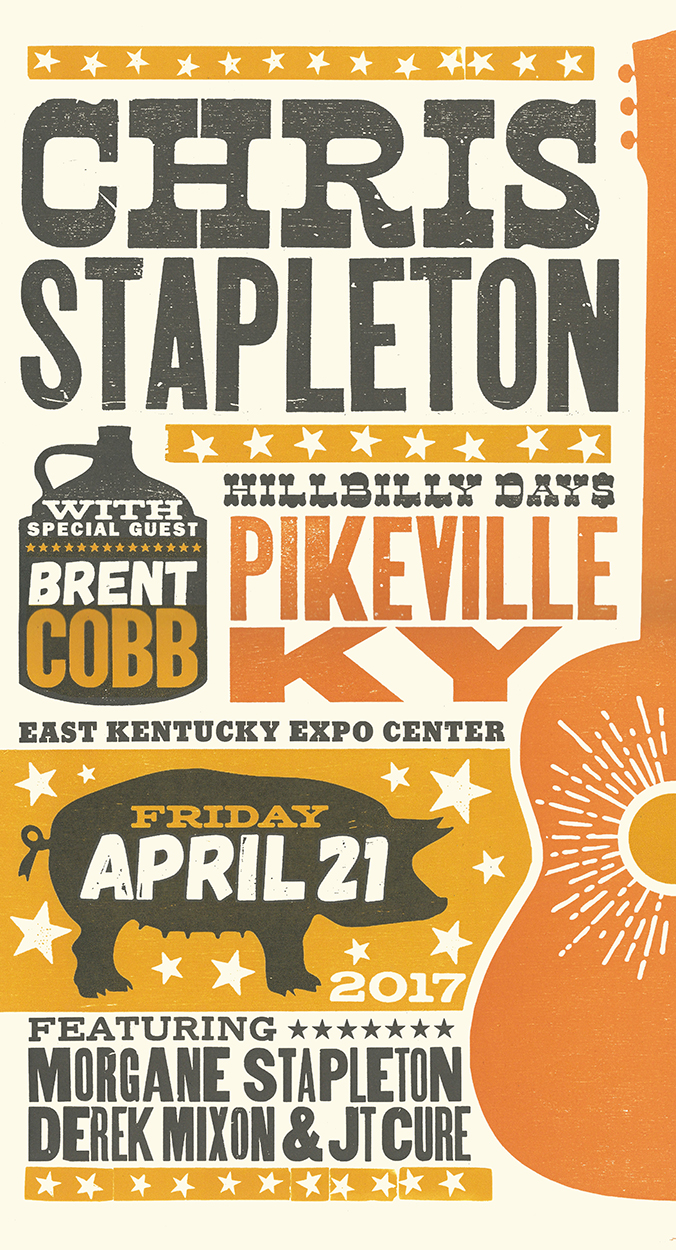 Chris Stapleton Hillbilly Days Poster