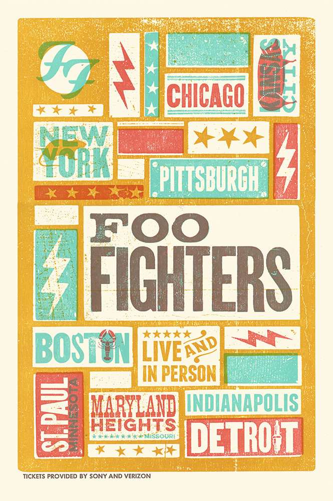 Foo Fighters Tour Poster