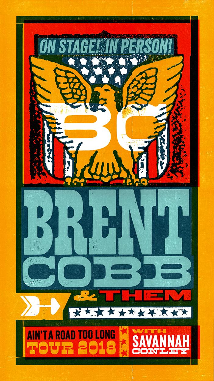 Brent Cobb Tour Poster