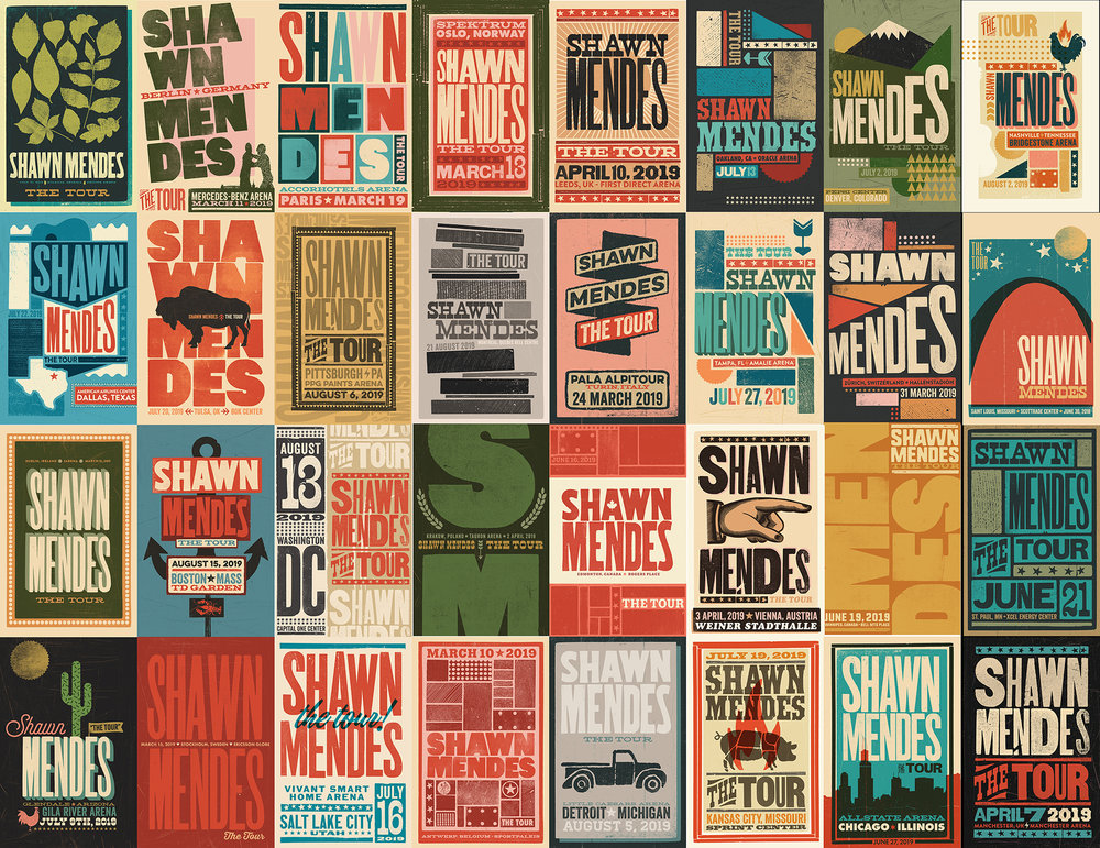 Shawn Mendes World Tour Show Posters!