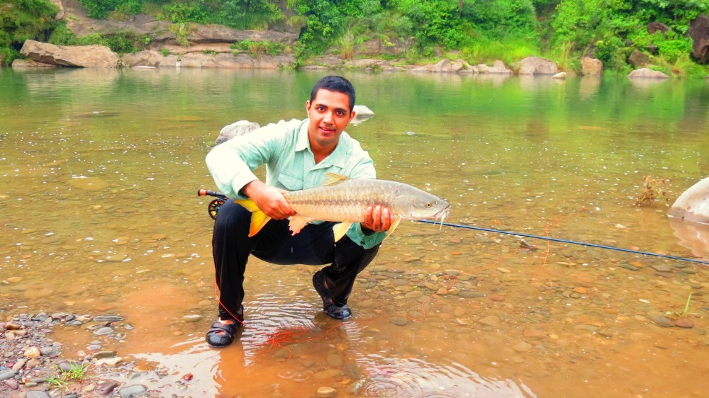 Mahseer Fly fishing with Himalayan Outfitter