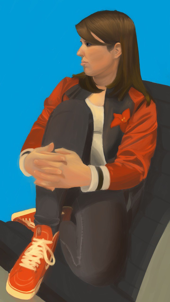 Digital Painting - Portrait of Courtney, 2019.