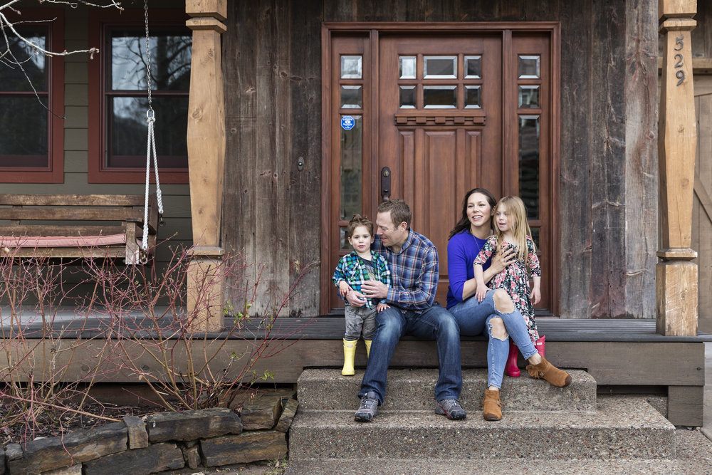 The Seymour Family enjoys their home in Basalt, Colo., in April 2018, just outside of Aspen. The Seymours moved to Basalt from Los Angeles in late 2016 for a change of pace, and because their careers allow them to work from anywhere. Joshua Seymour is a physician, and his wife, Marci is a CPA. They love to spend time in their backyard and at a nearby park with their two kids Stella, 4, Cassius, 2, and their new silver lab puppy, Ruby. CREDIT: Rebecca Stumpf for The Wall Street Journal