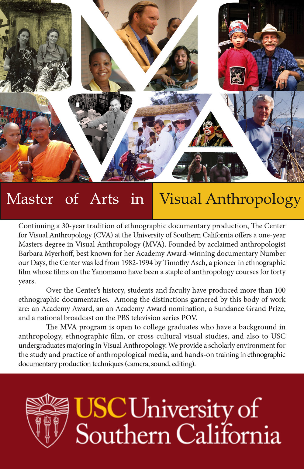 USC MVA program flier