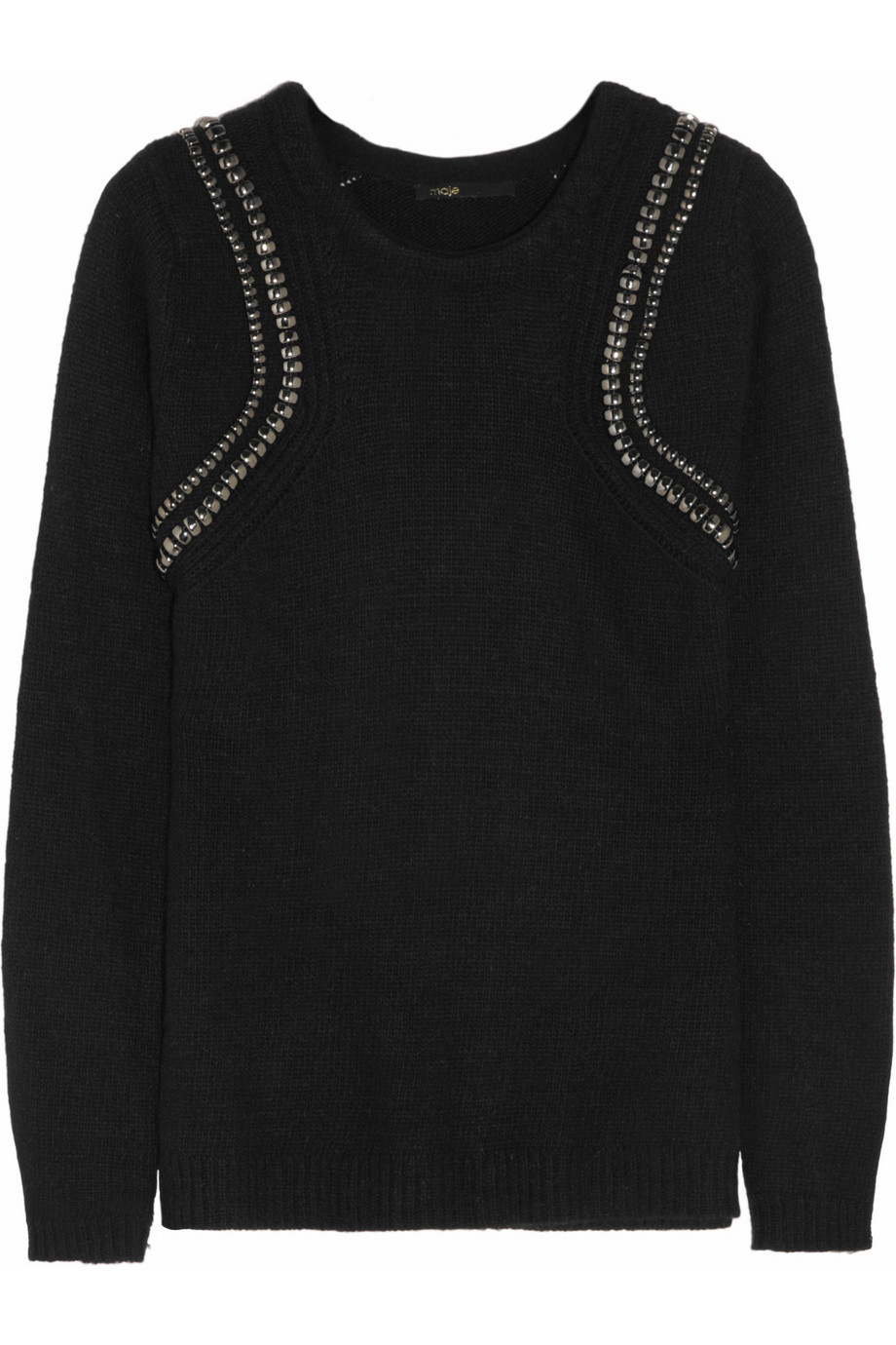 Maje   Embellished knitted sweater   NET-A-PORTER.COM_files.jpg