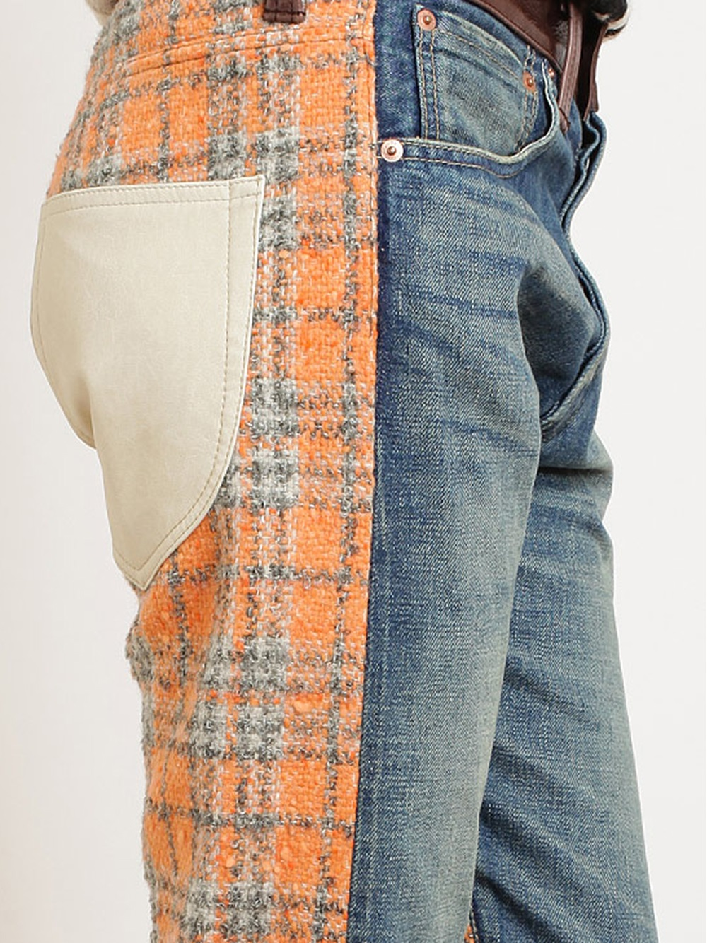 Junya Watanabe Tweed And Denim Cropped Jeans - Browns - Farfetch.com_files.jpg