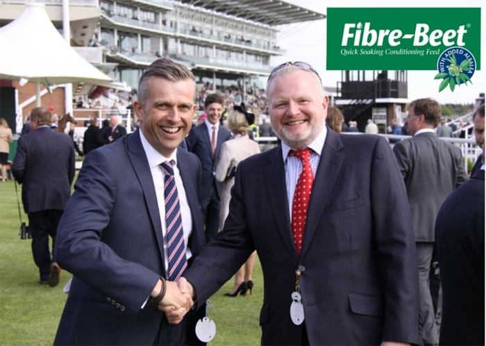 Will I'Anson & Colin Stirling celebrating the sponsorship at York Races