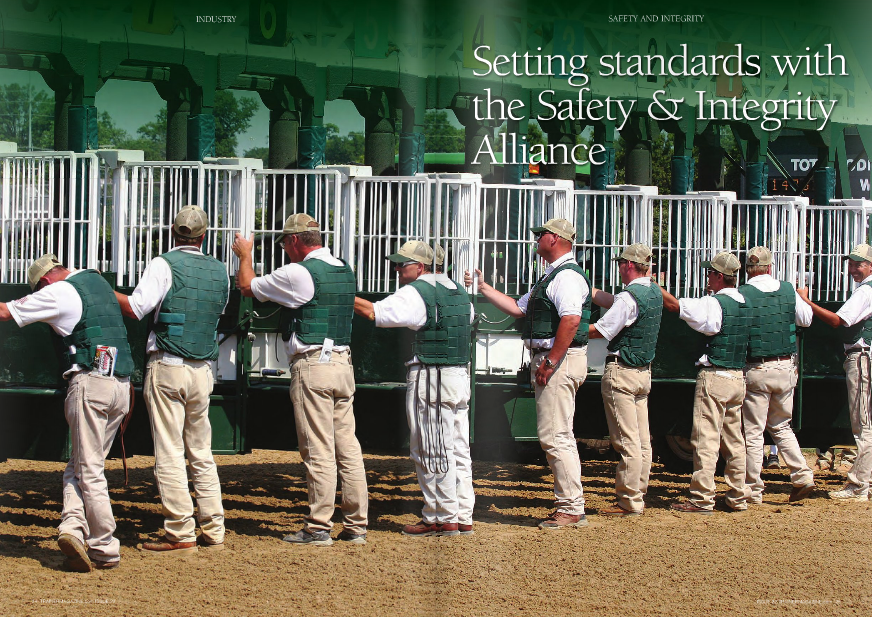 "n the wake of the dual blows to the industry's public image delivered by Richard Dutrow's admission that he, along with most trainers, administered steroids on a regular basis and the death of Eight Belles, the NTRA formed the Safety & Integrity Alliance in October, 2008, to ""establish standards and practices to promote safety and INDUSTRY Mike Ziegler, Executive Director of Safety & Integrity Alliance Churchill Downs is accredited despite not having a safety rail on the inside of the turf course 26 TRAINERMAGAZINE.com ISSUE 22 I To many, the National Thoroughbred Racing Association (NTRA) and its various programs have done little to change endemic problems associated with American racing. However, the NTRA Safety & Integrity Alliance has gained traction quickly, making actual improvements while simultaneously bringing together all parts of the industry toward a common goal. Not everyone is on board, but the gap between intent and actual practice has been surprisingly narrow for a program only three years old. WORDS: K.T. DONOVAN PHOTOS: HORSEPHOTOS.COM integrity in horse racing and to secure their implementation."" Every major horsemen's organization joined the Alliance, and Pfizer Animal Health was the original Equine Health Promotional Partner, with Hagyard Equine Medical Institute joining in that role in September of 2011. The first year, 16 tracks were accredited, plus four more the second year -- twenty tracks that account for 70% of the national handle. Joe Santanna, National Horsemen's Benevolent and Protective Association (HBPA) President and Chairman of the Board, helped form the goals and standards of the Alliance, and calls it ""one of the best things the NTRA has done in a while,"" a sentiment echoed by many throughout the industry. A survey in 2009 indicated that 55% of racing fans felt that racing was safer than in 2008, when they were shocked by the nationally televised death of Eight Belles right on the heels of Barbaro's demise. What about the other 45%? Most horseplayers see it as another waste of money and time, many trainers have never heard of it, and other industry insiders are not sure what the Alliance has accomplished. However, this impression owes more to a lack of proper promotion by the NTRA of what the Alliance does than to the Alliance itself. ""The idea is to make the bar high enough that even tracks like Keeneland, Churchill Downs, and Santa Anita have to make some effort, but not so high that others feel it is out of reach,"" explained Executive Director Mike Ziegler, the only paid employee of the Alliance. ""Even if everyone – commissions, horsemen – agrees, to ask the tracks to move the ball forward is a process."" To pass accreditation, the process begins with a 48-page written application, followed by several meetings, then an on-site review of six areas: wagering security; injury reporting and prevention; a safer racing environment; jockey health and safety; aftercare/transitioning of retired racehorses; uniform medication, testing, and penalties; and safety research. The reviews are undertaken by contracted veterinarians, related experts, and Ziegler. For example, Keeneland was inspected by Ziegler; Ron Jensen, DVM; racing official Richard Lewis; and Mike Kilpack of the Organization of Racetrack Investigators (ORI). These contractors are where the costs assessed go, and why the Alliance needs additional funding by the NTRA to continue. A track can be accredited without passing every guideline with flying colors, which is why some trainers have objected to Churchill being accredited while still not having a safety rail on the inside of the turf course. One trainer pointed out that even on the Northern California fair circuit, whose California Authority of Racing Fairs represents six of the original 55 tracks that pledged support yet never applied to be accredited, there are safety rails. One track that never pledged to join the Alliance and is adamant that it has no desire to do so is Oaklawn Park in Arkansas. Assistant general manager David Longinotti insists that Oaklawn values safety regardless of NTRA approval. ""We already follow the NTRA guidelines,"" Longinotti said. ""We have a state vet who tests horses, and we have an association vet who examines every horse. We have EMTs on site, not just in the afternoon, but during training hours. I don't think we need an independent monitor telling us what we need to do about safety."" Ziegler views the situation differently, arguing that, ""At Oaklawn, there is no TCO2 testing, crops aren't regulation, and for me, the EID (Equine Injury Database) and no pre-race exams are dealbreakers. Woodbine puts their EID stats on their website, and have since 2007."" ""We don't enter our horses in the EID because I find it meaningless,"" Longinotti said, citing Dr. Rick Arthur's study that 90% of fatal breakdowns have a pre-existing injury. ""We don't think we are gaining any information from the EID. We have a slew of vets at all times, morning and afternoon. There is no equine surgical center in Hot Springs. The closest one is Stillwater, Oklahoma. We run one 56-day meeting. We don't have horses here year-round. We aren't responsible for the aftercare of a horse once he leaves our grounds, or before he gets here."" Some industry insiders were outraged that pre-race exams did not stop Life At Ten from embarrassing the sport on Breeders' Cup Friday last year despite Churchill's accreditation. Ziegler pointed out that most speculation with Life At Ten came with hindsight, and that improved communication could have prevented the public relations disaster that ensued. ""Nobody owned the situation, so the explanations weren't in place,"" he said. ""The horse wasn't lame, and had warmed up exactly like that twice before, and even won. The vets couldn't scratch her on lameness, and the jock thought the horse was going to warm up out of it, break running, and go on to perform well, as she had in the past. The jock and trainer should ""The idea is to make the bar high enough that even tracks like Keeneland, Churchill Downs, and Santa Anita have to make some effort, but not so high that others feel it is out of reach"" Mike Ziegler INDUSTRY 28 TRAINERMAGAZINE.com ISSUE 22 have communicated (her peculiarity) to the vets ahead of time, and the vets to the stewards."" Instead, the public was caught off guard, and no immediate statement regarding the horse's well-being was made. The Alliance was not to blame, nor pre-race exam failure, but rather a lack of proper, early, and transparent explanation. The other significant practice, injury reporting, looks toward preventing equine injuries. The information is completely confidential to encourage comprehensive reporting by trainers. Injuries will never cease entirely, but veterinarians believe the EID will give accurate information that can produce measurable results for the first time. ""The EID has a minimum standard for the afternoons, and in the morning it's trackable if a horse is vanned off, if the ambulance drivers are keeping logs, and the association vet is following up,"" explains Ziegler. ""It's about changing culture, which takes time and education. There are issues in the claiming game of not wanting certain things known about individual horses, and trainers claim privacy. But the practicing vets are reporting injuries anonymously, so it's not pinned to any individual. There is no way to single out a trainer for any injuries."" According to one report from Evangeline Downs, which never pledged to join the Alliance, when pre-race exams started in 2008, the breakdown rate dropped from eight per 1,000 to two per 1,000. This is the trackable information the EID can help maintain. The insistence the Alliance gives to pre-race examinations requires all horses to be examined both before and after each race by an ""official veterinarian,"" but tracks often cannot afford the personnel, so many check two horses a day, or have someone other than a vet do the examination. ""Pre-testing horses becomes a question of whether the person testing is actually qualified,"" Arkansas HBPA head Bill Walmsley noted. ""We do it for graded stakes races – beyond that it's a personnel issue. We have the track vet pretesting, so we feel we are taking care of it. To have every horse tested, I see nothing wrong with it, but it's not essential for safety, particularly if people with no special expertise are doing it."" Walmsley makes clear that he has no problem with what the Alliance is trying to achieve, admitting there are good characteristics, but still questions whether a portion of it is form over substance. ""I would recommend it if I thought Oaklawn was unsafe, but I don't,"" he states emphatically. ""We've had safety meetings since before there Oaklawn Park is not involved in the Alliance, insisting its safety standards follow NTRA guidelines was an NTRA. We have a track committee which meets every year in November – trainers, owners, management, track superintendent – and then we meet once a week to discuss anything anyone feels needs to be addressed. We pick up information from exercise riders and jockeys, and have a good interchange between horsemen and executives. It accomplishes the same thing without an outside source. We know best what our track and our people need."" The Alliance does not make its own medication rules, instead adopting the model rules of the Racing Medication and Testing Consortium (RMTC). It set its own Code of Standards based on the minimum practices set forth by advisors from different roles in the industry and implements those agreed-upon standards. Members are encouraged to exceed these minimums. ""When the Alliance recognizes a 'best practice,' you can move industry standards towards that, and the industry as a whole becomes an amalgamation of all the best practice standards,"" Santanna explains. ""We are still in the first stage of re-accreditation. The whole program is in its infancy, and it's a huge effort. We are putting in the structure. As a joint effort, it's been terrific; we have brought together regulators, trainers, racetrack operators, security, jockeys, owners – this is a clear example of us all working together."" Arlington Park was re-accredited in July and given ""best practice"" in cushioned riding crops and safety vests, padded starting gate, safety research, catastrophic injury planning and procedures, fire safety, paddock safety protocols, anabolic steroids and out of competition testing, security assessments and training, jockey health info, ambulance/med support, jockey disability supports, substance abuse program, aftercare, wagering security, and stop-wagering protocols. Some tracks among the original 55 to pledge support are no longer racing, while more than half of the accredited ones have already achieved re-accreditation. Of the 20 that received twoyear accreditation the first time around, only casino-operated Delaware Park did not re-apply. New on the list is Suffolk Downs, which began the process of its first accreditation in the summer of 2011. The Alliance relies on tracks to enforce the rules themselves. Outriders and clerks of scales make sure everyone is wearing a helmet and gate crews are wearing vests – the largest source of objection to compliance. Track security monitors wagering and use of medication and shockwave therapy on the grounds. Safety meetings with jockeys and others are one of the requirements, and these discussions help tracks become aware of problems they can fix on their own. Terry Meyocks, head of the Jockeys' Guild, declares that Ziegler's efforts have made a noticeable difference. Meyocks' experience dealing with hospitals and the aftermath of accidents make him particularly interested in rider and gate crew safety. ""A lot of racetrack executives don't know about these problems -- they come from casinos or other industries, and the Safety & Integrity Alliance has done a great job of educating them on what the issues are and what needs to be done,"" Meyocks said. ""Mike Ziegler is very open to input from riders, and always asks who the jockeys are to talk to whenever he goes somewhere,"" Meyocks said. ""He listens to them individually, and in full rooms, and then takes the suggestions to the racetracks. He has surrounded himself with experts, and brought in the right people, like Dan Fick, Doc Jensen, and others. He follows through."" 30 TRAINERMAGAZINE.com ISSUE 22 INDUSTRY PlEDgED TRAcK AccREDITED RE-AccREDITED Aqueduct 3 Arlington Park 3 3 Belmont Park 3 3 Calder Race Course 3 3 Canterbury Park 3 CARF – Ferndale CARF – Fresno CARF – Pleasanton CARF – Sacramento CARF – Santa Rosa CARF - Stockton Charles Town Churchill Downs 3 3 Colonial Downs Delaware Park 3 Del Mar 3 3 Ellis Park Emerald Downs Fair Grounds 3 Fairplex Finger Lakes 3 Golden Gate Fields 3 Gulfstream Park Hastings Park Hollywood Park 3 3 Hoosier Park Indiana Downs Keeneland 3 3 Kentucky Downs Laurel Park Lone Star Park Louisiana Downs Monmouth Park 3 Mountaineer Oak Tree/Santa Anita 3 Penn National Philadelphia Park (Parx) Pimlico Race Course 3 3 Pinnacle Racecourse Portland Meadows Presque Isle Downs Remington Park Ruidoso Downs Sam Houston Race Park Saratoga Racecourse 3 3 Suffolk Downs Sunland Park 3 Thistledown Turfway Park 3 Woodbine 3 Zia Park NTRA SAfETY & INTEgRITY AllIANcE A site. Ziegler sees that tracks get out of it what they put in, and feels it's in everyone's best interests and shameful if they don't participate. Nevertheless, he's working on incentives, which he expects to finalize and announce in the coming months. Casino gaming is a common denominator among tracks that have declined to participate. Whereas Oaklawn representatives pleasantly explained their thoughts on why they did not want to participate, repeated attempts to speak to track managers at venues like Delaware Park, Parx Racing, and Penn National were ignored. On the other hand, Sunland used the opportunity offered by the Alliance to go to the New Mexico Racing Commission and repair regulations that were way out of sync with the rest of the country. For example, Banamine levels were 50 times what any other state would allow. To not be seen as some rogue track out in the bush leagues was important to Sunland, now a player in the Triple Crown scene and growing in prestige. Stymied in the past by needing the Commission to enact change, the pressure of the Alliance requirements forced the Commission's hand and Sunland brought all of New Mexico racing up to appropriate standards, including matching medication levels to California's. Sunland's Dix said he hasn't had any horsemen say they want to run at Sunland just because it's accredited, but it hasn't hurt as far as being viewed on a par with the major tracks. ""Getting that grade for the Sunland Derby (which was elevated to Grade 3 status in 2010) was very important to us, and we want to keep it,"" Dix said. ""The Graded Committee hasn't said we needed to be accredited, but we're trying to do everything we can to get and keep that grade. The Safety & Integrity Alliance was a big step toward that, and put us ahead of the curve."" Ziegler uses Sunland as an example to tracks like Suffolk Downs that have to make an effort to match major tracks, explaining that not everything has to be corrected immediately, but showing a willingness to try is important. ""Right now Suffolk is provisionally accredited, so they can go to the Commission to make the necessary changes with accreditation as a carrot,"" Ziegler said. ""Some changes are small – there is currently no safety committee program. We want security, EMTs, jockeys and others to be weighing in with track management on what they need. Other changes are significant – Bute is allowed on raceday in Massachusetts, and we want to change that."" As the Safety & Integrity Alliance continues to make progress, there are further improvements that people want to see. Meyocks wants to expand it and make it a condition of licensing at tracks – the ""stick"" that goes with the ""carrot"" that Ziegler will offer. ""High on my list of what we need to improve upon are minimum standards for ambulances, and trauma centers,"" Meyocks said. ""What NYRA can afford, and what the Fairmount Parks can afford, are two different things. But it's not that much money to hire a medical director, to have appropriate people on hand. An EMT can save a jockey's life. We need to communicate better, educate the public better. And within racing, we need to remember people like Rene Douglas, Ron Turcotte, Mike Straight."" Santanna wants to include racetrack surfaces in the reviews, with ongoing analysis, regular logs, and maintenance evaluations. ""Under the current guidance of the team, we continue to improve and expand,"" he said. ""There are two things I want to see: I want some element of evaluating the racetrack surface, which could be cost prohibitive, and I want eventually all major tracks that are not accredited to embrace the program."" Despite being initially viewed with such skepticism, to have all major factions participate and produce so much progress in a short period of time has been almost as remarkable as the ignorance of what it does by the general public and even racing participants. Ziegler's willingness to have a dialogue with any member of track personnel and industry insiders has helped tremendously. Even dissenters don't deny its value, but merely question the cost-benefit of the program. If the Safety & Integrity Alliance is the first step toward unifying the sport, and lets the public know what racing does right, don't the benefits surely outweigh the costs? n Arlington Park was re-accredited in July Meyocks expressed frustration at tracks that are unwilling to spend money where people's well-being is concerned, noting that studies have shown the danger starting gates impose. ""It costs an extra $20,000-$30,000 to pad the starting gate properly, and some tracks say they can't afford it."" Turfway improved the padding on its starting gate after a review by the Alliance. Even major tracks like Del Mar have found they could improve on issues like padding after listening to the input from an Alliance review. ""It's a costly process, but it's hard to put a price on safety,"" Sunland Park Director of Racing Dustin Dix said. ""Sunland has always made safety a priority and taking care of the horsemen. Our jocks' insurance is $1-million. We try to go above and beyond, and the Alliance helped us go in the right direction."" Some tracks object to the fees. If all the tracks supported the program, it would break even, using a sliding scale based on purses paid so smaller tracks pay less than major ones. Fees for NTRA members are $15,000-$7,500, with those fees credited against their NTRA dues. Non-members like Churchill Downs pay $40,000-$10,000, not outrageous compared to other business consultants. The fees go toward the reviews conducted by the contracted consultants and veterinarians, and associated costs, with the NTRA making up the difference. The Alliance fees do not support the NTRA; it's the other way around. ""Everything in this industry moves slower than we'd like, but this is the best step that's happened in 20-30 years on safety issues,"" Meyocks declared. ""There is a cost to it, but at the end of the day, it's beneficial. It's a liability issue for tracks, but it's preventive medicine, and if they don't have the money, they shouldn't be in racing."" Some smaller tracks like River Downs and Tampa Bay Downs never signed onto the pledge. They know the improvements required might be beyond their capacity to afford, including working ambulances, and EMTs on-"