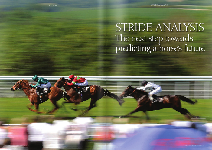 """Stride analysis technology has now given trainers the option of employing an accurate, scientific aid to bolster their understanding. Simple to use, automated stride analysis technology is still in its infancy and is now available on the market. Only time will tell how much value it will add, or whether it can supersede jockey feedback and the observation of the naked eye, but the early signs are encouraging. The extent of man's fascination with the thoroughbred stride is best emphasised by the fact that the first motion picture displaying device in history, the zoopraxiscope invented by Edweard Muybridge, was developed in order to settle an argument on whether all four of a horse's hooves were ever off the ground at the same time during a gallop. On the other hand, the importance of stride analysis might be be st emphasised by expensive two-year-old The Green Monkey, who was sold for US$16 million on the basis of his 9.8-second breeze at the 2006 Fasig-Tipton Calder sale. EQB, a bloodstock agent and consultant company in the USA that offer gait analysis as part of their package, would have advised against buying the colt. EQB said of The Green Monkey's breeze: """"...high-speed film revealed that the entire work was done at a rotary gallop, a very quick gait that can produce fast times but costs more energy and is unlikely to be maintained over longer distances."""" The Green Monkey ran three times, running third once and fourth twice, before being sent to stud for a covering fee of US$5,000. EQB were pioneers in """"gait analysis"""" 25 years ago and also invented the world's first heart rate monitor. Today they consult some of the top racing stables in the USA. They use digital high-speed v ideo equipment in order to analyse a horse's stride in ultra-slow motion, digitised to hundreds of pictures per second. Their extensive research revealed a positive correlation between the efficiency of the stride and subsequent racing success. They divulged, """"Once a horse attains racing """