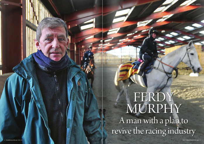 "HoWeVer, unlike some of racing's other doom- mongers, Murphy is keen on action. Thankfully, he's pretty keen on words too.     Last November he wrote a letter to the   Racing Post   outlining proposals that, if     implemented, could theoretically provide racing a return of £150 million a year from bookmakers and betting exchanges.     By charging bookmakers a picture rights fee of £1 per race, per betting office, a benchmark calculation sees 8,500 shops and 10,500 races producing a      £90 million a year. This amount, Murphy envisages, could be topped up by additional money – up to £60 million, he believes – yielded from a five pence transaction charge placed on all matched horse racing bets laid on Betfair.     Sounds simple? Well, it is. And the removal of complicated formulas and expensive red tape from the process by which payments to the sport are made by those who profit from bets placed on it could only be a good thing.     Pragmatically, there are potential flaws. Fees for picture rights would be subject to VAT, while Levy is exempt, and although Betfair's Guy Sangster contacted Murphy after the publication of the letter and is set to meet the trainer this spring, it seems improbable to imagine that adding a transaction charge could sit well with shareholders.     Nevertheless, the proposals point to Murphy's desire to find solutions to problems and could offer a starting point for future negotiations between bookmakers and racing which do not require the annual rigmarole of Government invention.     ""With hindsight, I probably shouldn't have sent the letter to the   Racing Post  , I should have sent it straight to Nic Coward at the British Horseracing Authority,"" says Murphy.     ""racing is pulling itself apart at the moment. You only have to look at the infighting to see how complicated it is and why we need to simplify its finances.     ""The biggest winners at the moment are the legal people. everyone that has had an input in the Levy process has had their own legal people. We need to simplify it as much as possible and keep it straightforward.     ""We've had a look at the sums and these proposals are what we have come up with.     ""The people who run racing have left bookmakers off too lightly for too long. As far as I can see, the best people in racing, the good brains are with the bookmakers. To me, they've recruited very, very sharp people. I sat down for dinner once with Fred Done, the founder of Betfred, and I listened to him for an hour and a half and how he set up his business. He worked on his product and he wanted his to be the best. We had the best but we're making it the worst.""     As we all know, reduced prize money levels inevitably threaten to lead to disenchantment for owners and the likelihood of declining revenues on all fronts for trainers, with the rising number of bad debts also putting stress on the balance sheet.     But Murphy's concerns extend beyond simple finances to the detrimental effects upon the image of racing and its potential for revival.     His relationship with the British Horseracing Authority (BHA) has always been incendiary, not least as the result of a number of well-publicised brushes with the BHA's disciplinary panel.     This, however, is not personal, he insists.     ""I think they've got some good people at the BHA, but I'm not so sure about the leadership – do they really understand racing?"" he asks.     ""You would never think you would see the day where a jockeys' percentage     for winning a race could be less than his riding fee but that's where we are now.     ""They say that we have the best racing in the world, but our product is just getting driven into the ground by mediocrity.     ""I brought this up with the BHA about three, four years ago, that they are dumbing down racing.     ""rupert Murdoch proved with football that the way you need to go is up, not down. He took it and put in on a different level. People thought that if you start paying these footballers obscene wages that it can't last, but he's made these football players gods. He made football better and brought it to a higher standard and glamourised it. We've     gone the other way. ""If we run a 0-85 handicap, the sort of     race which we have plenty of now over jumps, you must remember that over the last 15-16 years, we've had 20lb worth of slippage in the ratings – two 10lb slippages, so a 0-85 is actually a 0-65 and if you take 26lb off of 65, you get a horse that can't even canter – it should be dead – and that's what's running off of 10st in these races.     ""Where five or six years ago, I would have 20 or so people coming to look at horses wanting to buy something to go point-to-pointing, nowadays owners that have a 85 or a 90 horse say 'oh there's plenty of races for them' so they've kept the rubbish in racing.     ""They've just pandered to the bookmakers. The bookmakers want these races because you'll get a full field, they'll be wearing tongue-ties, visors, blinkers, you name it, they're all toerags. I mean they're all still horses, but they have their problems.     ""The thing is if you ran the race 20 times you'd get 17 different winners and they'd all be 14-1. The bookmakers can make more money out of the punters on these races, the worse the race the higher the profit for them, and that's what they went for and the BHA have accommodated them.""     racing has, in Murphy's view, shot itself in the foot by producing racing so impossible and impenetrable for punters that they have voted with their wallets.     The consequent drop in revenues for the sport, combined with the overspending in previous years will this year, he believes, start to take dramatic effect.     ""What's going to happen is that a lot of small trainers will be going out of business to start with,"" he says. ""I know it's been said before, but I'm telling you, it's really going to rock the sport. You'll have a massive, massive exodus of owners, don't worry about that. I reckon you'll see about a 30 per cent reduction in the numbers of horses in training.     ""We try to stay competitive. We only charge 90p a mile [travelling expenses] and we lose big money on transport. But it's very hard to go to someone and say prize money is getting lower and lower – okay it's your hobby – but the return that you are going to get is going to be far less than what you got last year, but at the same time I'm putting my prices up.     ""I have more than half-a-dozen four-year- olds in the field, whose owners have said to keep them out. Last year I would bring them in the winter, but this year we're not going to bring them in at all until the summer. We charge about eight pounds a day for them while they are out at grass and     we make a loss on them because they've still got to be fed and looked after.     ""It's a decision I made myself not to put extra expenses on to those owners. Hopefully it will pay off for me in the long term. As an owner, you only need to get a few returns from Weatherbys to think 'Bollocks to this.'     ""I've spoken to some of the biggest trainers in the business and they say they've never known it so bad. I could tell you about trainers who are owed one-and-a-half million, two million in bad debts. There are trainers who have dozens of horses where the owners have just walked away and said 'Keep'em.'""     A journeyman jockey in Ireland, Murphy learned the ropes with Phonsie o'Brien at Ballydoyle before a spell with Paddy Mullins, subsequently becoming a salaried trainer for the Durkan family, where his years included a spell training the much- loved mare Anaglogs Daughter, winner of the 1980 Arkle Chase. Murphy was happy training good horses but the Durkan construction business hit a downturn a few years later and he moved on to take a similar position for Geoff Hubbard in Suffolk.     ""To be getting paid to train proper jumping horses seemed like a bit of a dream at the time,"" he says, smiling at the memories.     He spent 11 years with Hubbard, the period bringing high-profile victories for the likes of Cuddy Dale and Hennessy winner     Sibton Abbey, while Murphy still lights up at the mention of Hubbard's Gee-A winning the Fox Hunters' Chase at Aintree under son Paul, who after a spell training in his own right has now returned to work     Cheltenham Festival, having taken at least one race in four of the last five years, while other valuable handicaps have been won by L'Antartique and Hot Weld.     Kalahari King, Carlys Quest, and Paddy's return have all won Grade ones, while French Holly might have proved better than them all had the SunAlliance Hurdle winner not been killed in a schooling accident just weeks into his new career as a steeplechaser.     ""He was a three-miler chaser in the waiting, who had the class to be third to Istabraq in the Champion Hurdle,"" says Murphy. ""There's never a moment's doubt in my mind that he would have gone right to the top over fences.""     There have been leaner times too since moving north in 1994, struggling to build a relationship with owner robert ogden and with seasons such as this where the weather has played its part, along with bad luck, to prevent the winners coming with their normal flow.     Murphy takes it all in his stride.     ""I try never to feel sorry for myself,"" he says. ""If I can go home and the horses are grand and sound, so long as you can keep your horses sound, they'll race again and they'll win again, you know.     ""I had the best of the both worlds when I was training as a salaried trainer. I was getting good horses, plenty of experience and I was getting paid, but at some stage you want to go and do your own thing. So we did.    with his father while also making a name out for himself in film production.     Since making the decision to head north to Yorkshire after Hubbard's death, big-race wins have continued to come regularly. He leads the way for northern trainers at the     ""When I started out on my own I looked around and I saw trainers, hard-working guys, who were left with nothing and I mean absolutely nothing. I wasn't going to let that happen to me so the following year I started buying houses in the area and I have got 15 or 16 now. We do a 12-year business plan on them all, putting down a decent deposit.     ""I bought my first house about six months after I moved up here, then after that whenever I had a big winner I'd try and get the money together for a deposit on another one.     ""Without that, there's no way I'd stay training. I'd be in trouble. I subsidise the business myself.     ""I also buy and sell a few horses in Ireland with my brother too. We've got a full- brother to reve di Sivola who we bought a couple of months ago, we buy really nice horses like that. ""obviously I'd rather I was training him, but we need to make money so he will probably go to my son, Barry, who is training in Ireland with the aim of winning a point-to-point or a bumper and ending up at the Brightwell Sales. These are the things you have to be doing, to keep the ship afloat.""     An important link with son-in-law Guy Petit, the French bloodstock agent, also continues to produce a harvest.     ""I'd buy 15, maybe 20 a year off Guy,"" Murphy continues. ""I go across and watch some of the claiming races. I try and buy chasing types, some maybe a bit backward, but horses who have been placed in claiming chases – horses like Nine di Sivola, Galant Nuit, and they turned out all right for us.     ""Because the prize money is so good in the claimers, people will run nice horses in those races. You can claim a nice sort of horse for €18-20,000 and that's a nice sort of price for a horse who is sound and has some form in the book.""     He attributes the stable's biggest recent successes to an enduring policy of patience rather than a rush for rapid returns,     although to some extent this has become a self-fulfilling prophecy in that owners understand the type of raw material with which he is happiest to work.     ""In the north, you haven't got the power of the southern yards to buy the expensive horses with which you can go to war with fairly quick, so that's partly the reason,"" he explains.     ""But when I first moved here, I was knocked down with people coming in putting horses with us and we expanded fairly quickly. There were two ways I could have gone – I could have stayed the traditional way, which I think is pretty much the way I have stayed, or I could have gone the modern way, which is to work the horses pretty hard.     ""That has its benefits, but the attrition rate can be high, so I decided to stick at it the old way and let the horses improve through the season. The better prizes are in the spring anyway, and that's pretty much how we have played it.     ""You can go off strong in the summer, you can have 50 winners before the season has really got going if you want to do that. Some trainers do that. But I reckon you need your winners in March, April, May because that's when you're getting your orders in. It's no good having winners in September, october. Nobody's moving horses around then. People will gallop the [heck] out of them and go for it, but that's notthewayIdoit.     ""You stay steady away and if you can win the Scottish National, or the Whitbread or pick up a couple of winners at Cheltenham, that'll rescue any season. You have to keep your head and keep your horses sound. That's what it's all about. If you don't do that, you'll win [nothing].""     Murphy's philosophy has reaped impressive dividends in recent years. The question now is whether racing is ready for the same sort of keep-it-simple approach as it bids to salvage financial stability."