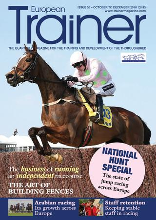 October - December '16 - issue 55   Jump racing across Europe - how is the sport developing?    Charles Enderby - The Hexham racecourse supremo on the business of running an independent racecourse    Fence Builders - how the building of steeplechase fences in changing    Stable staff training & education - learning on the job    TRM Trainer of the Quarter - Maciej Janikowski - trainer of Va Bank    The growth of Arabian horse racing across Europe    Italian Trainers who moved to France - three trainers share their experiences    Beach racing across Europe    The spread of Equine Flu    Dental infections - how do they affect the racehorse?    Performance Horse Seminar - part 2    The Alex Scott Memorial Scholarship Winners of 2015 - in their own words
