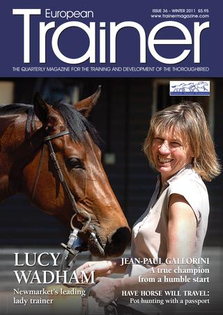 Winter 2012 - Issue 36 Lucy Wadham - Cover Profile Trainers on the hunt for bigger purses Biomechanics - the horses pelvis  Jean-Paul Gallorini   African Horse Sickness Fit not fat  Gary Witheford - the horse educator MRI - diagnosing equine injury