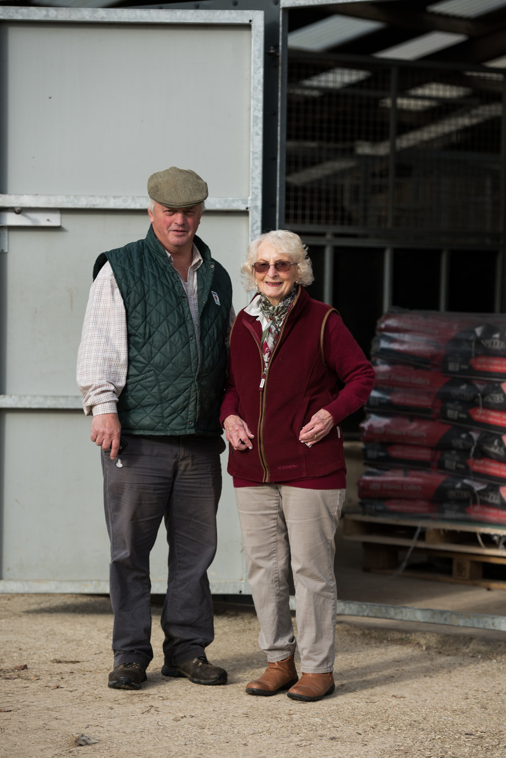 Colin with his mother Marjorie, a frequent visitor to the yard