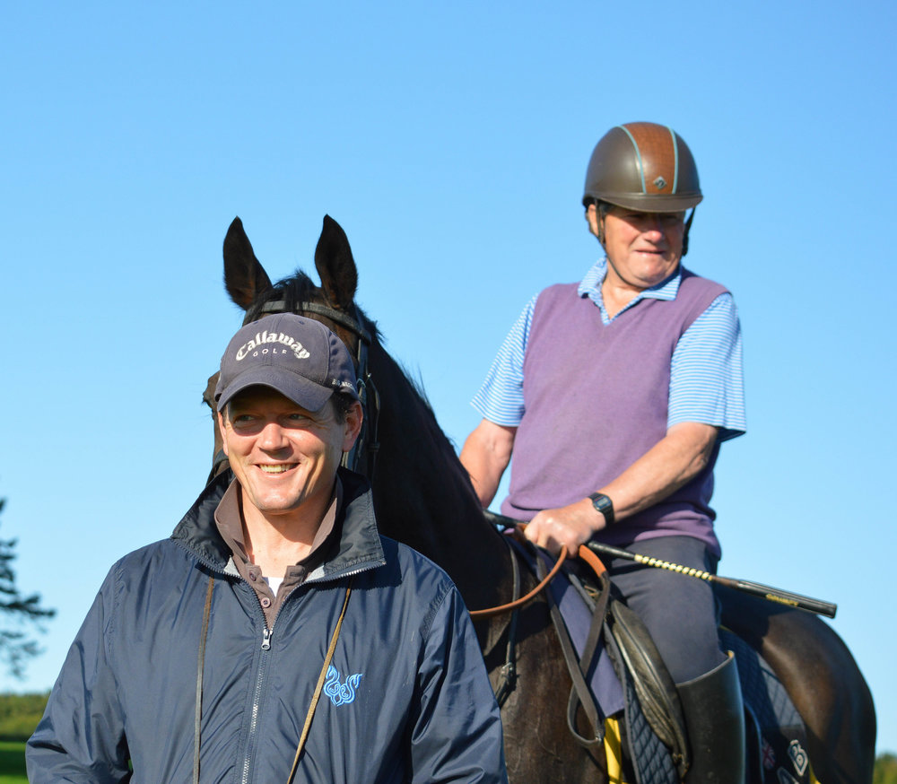 Father and son, Ian and Andrew Balding