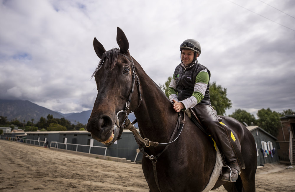 April 03, 2019: Leonard Powell with 11 year old Soi Phet at Santa Anita Park on April 03, 2019 in Arcadia, California. Evers/Eclipse Sportswire/CSM