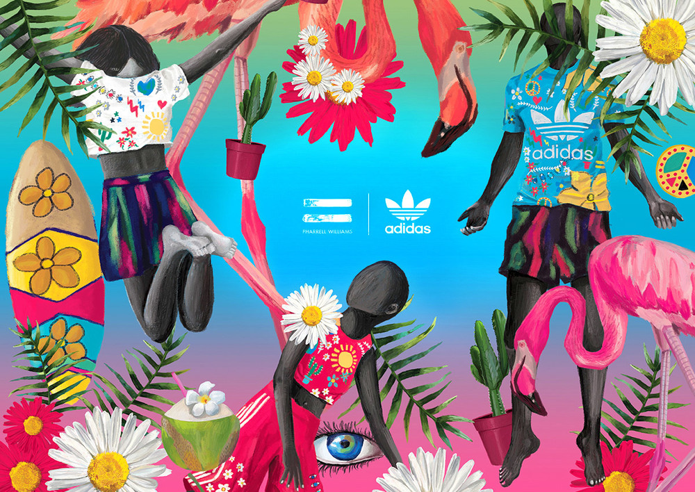 brand new 96d74 023db BRINGING IN BEACH VIBES FOR ADIDAS ORIGINALS TO LAUNCH THE PHARRELL WILLIAMS  PINKBEACH COLLECTION IN INDIA. BRIEF  DREAM  AWAKEN