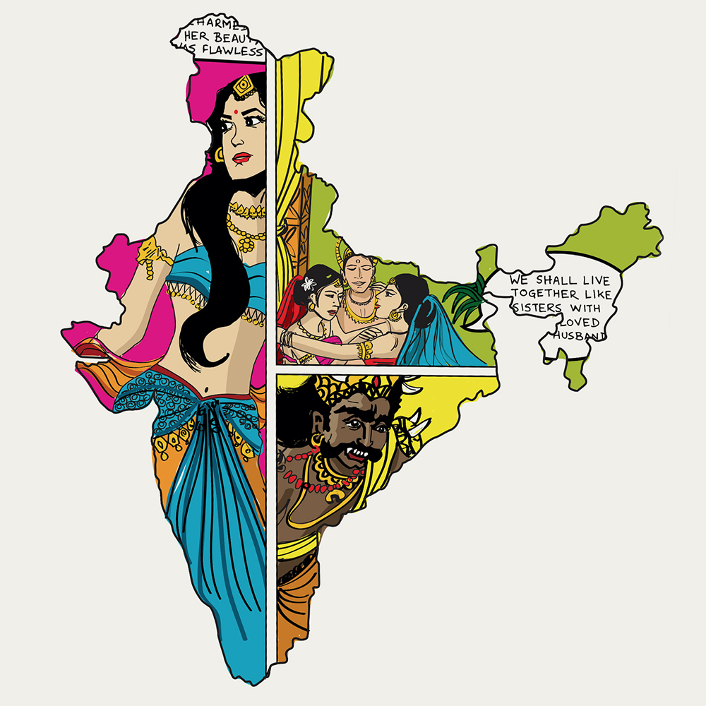 """1967 was the birth year of Amar Chitra Katha, India's unique comic-book approach to recasting mythology for children and youth. In an attempt to simplify complex and obscure stories of the ancient past, It spawned off a different kind of cultural movement - it served as ready storyboards for mythological movies and TV serials; even fashion has adopted the inimitable style of certain in-house illustrators; the vibrant graphics created cultural stereotypes like race and gender biases; what docile middle-class Indians swear by even today has its own contribution to popular depiction of dominant classes and violence."" ~  Hari Krishnan"