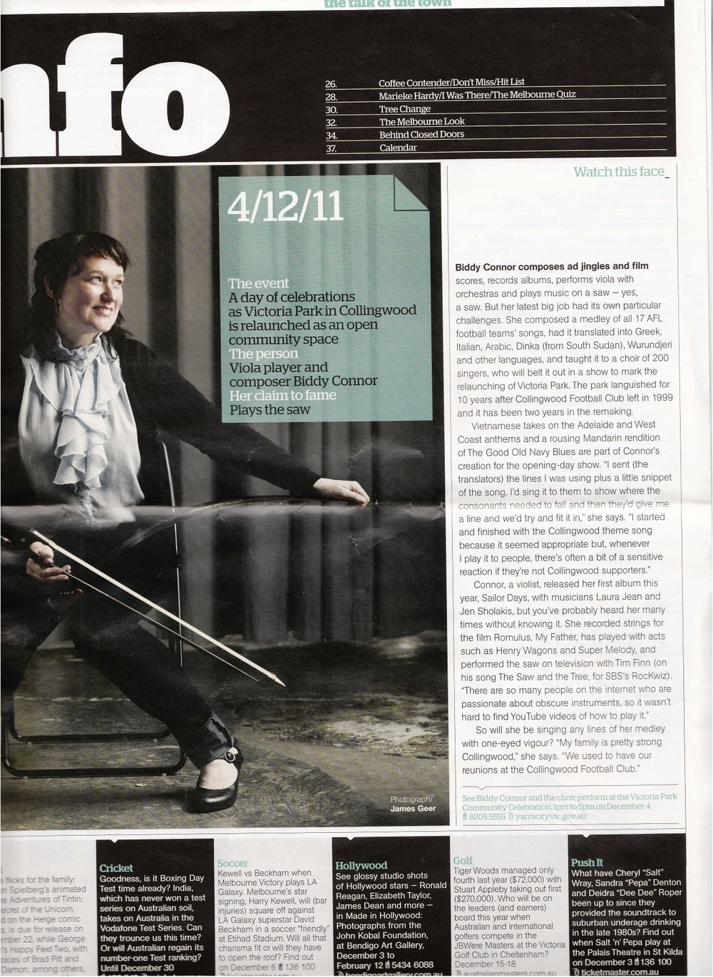 Biddy Connor Melbourne Magazine NOvember 20th 2011.jpg