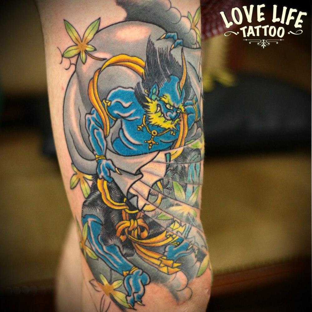 татуировка японского демона