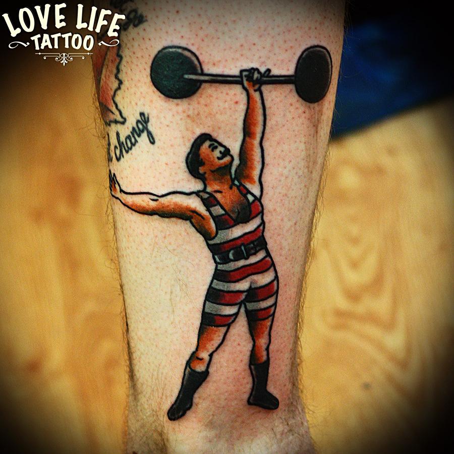 татуировка штангиста