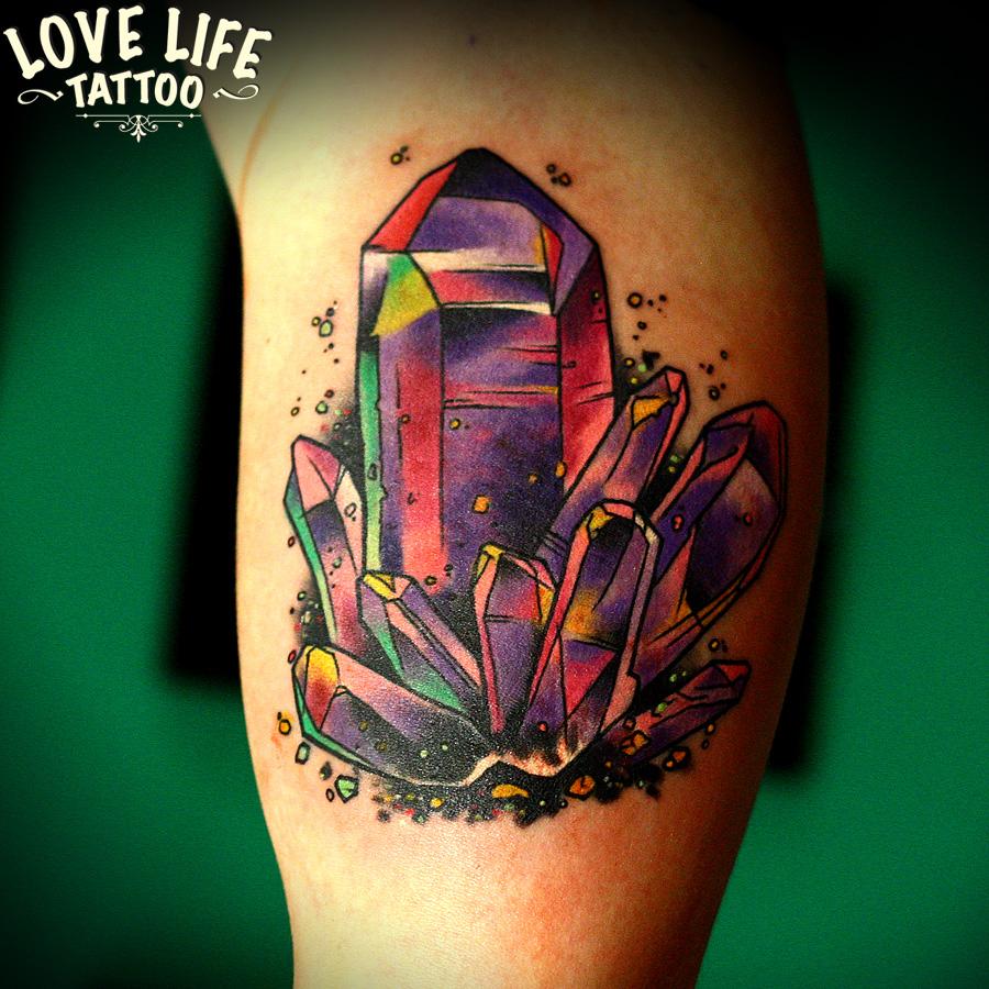 татуировка кристаллов