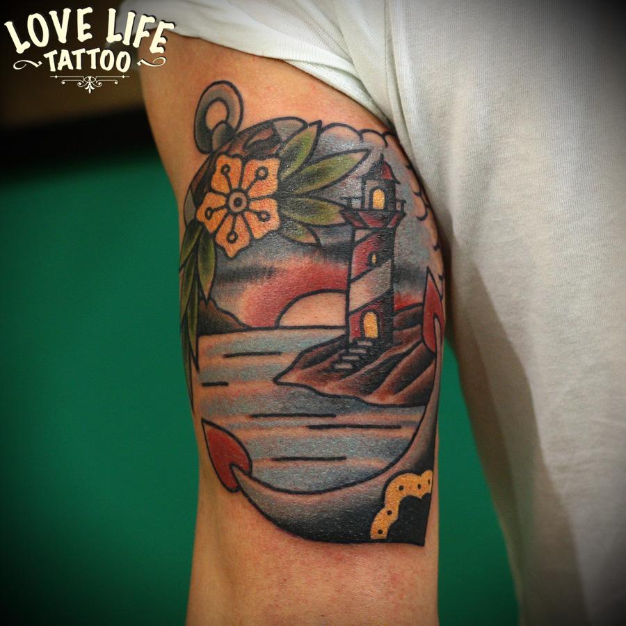 татуировка маяка