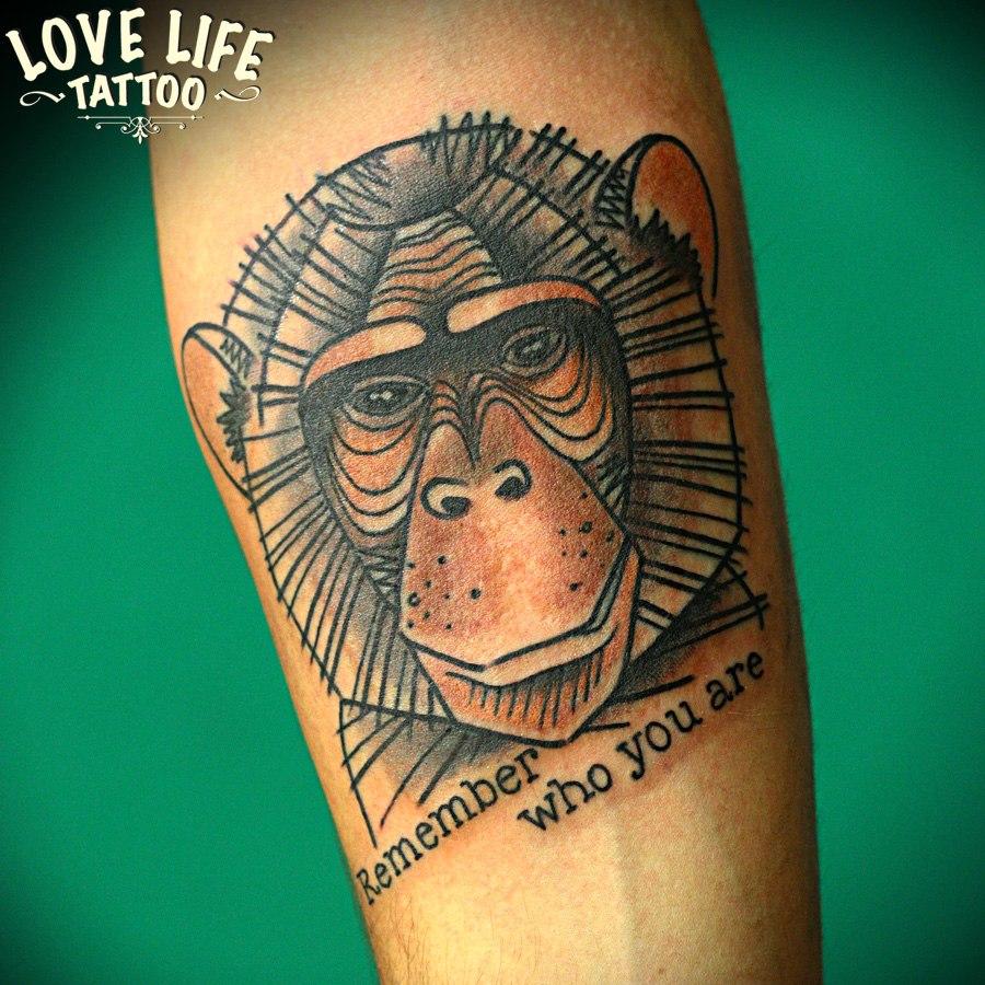 татуировка обезьяны