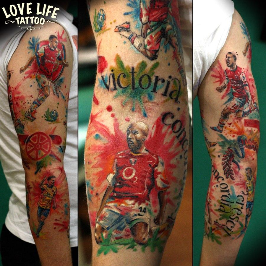 татуировка футболистов