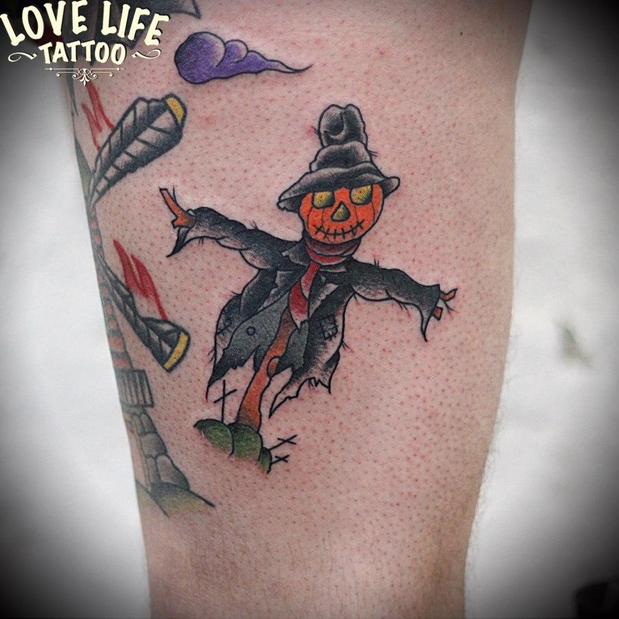 татуировка пугала