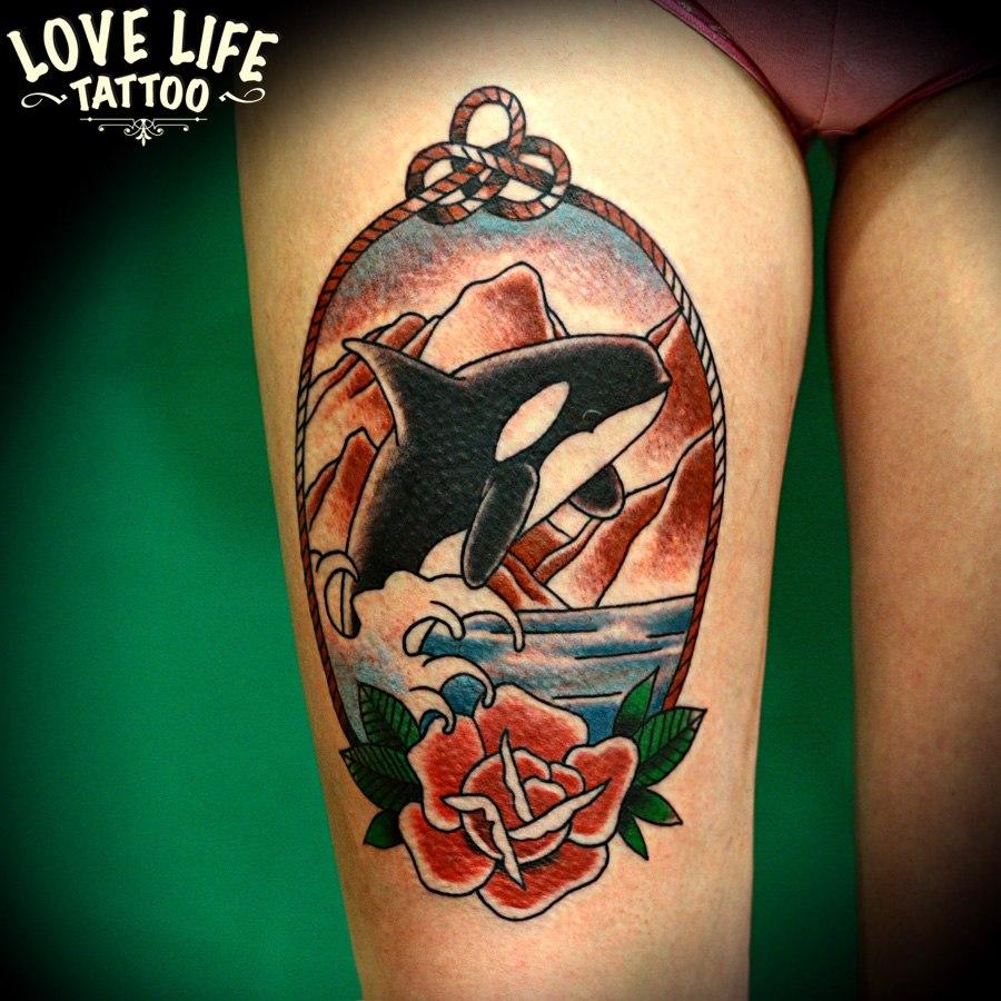 татуировка касатка