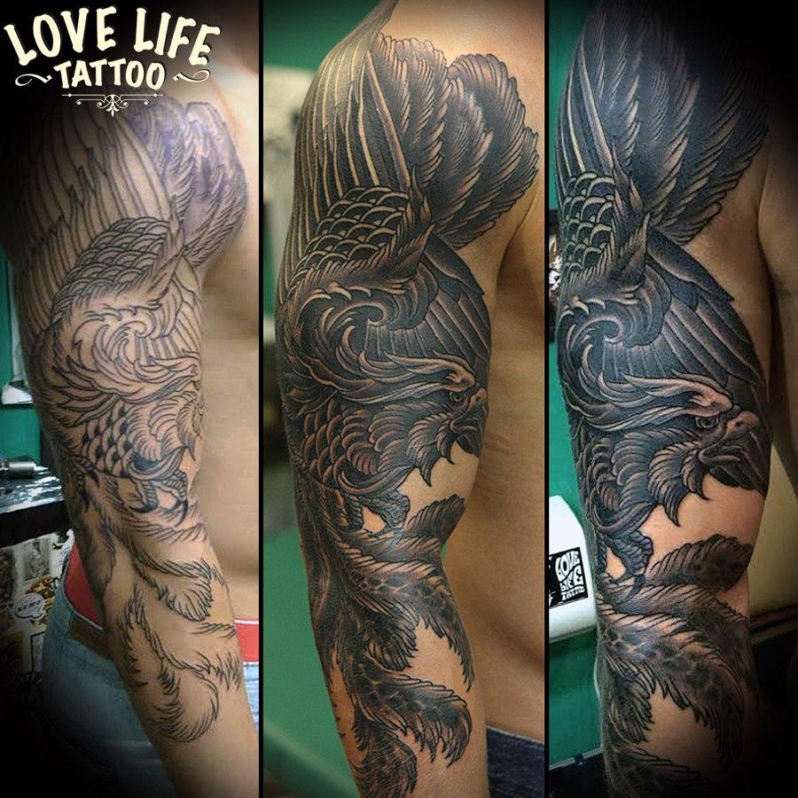 татуировка жар-птицы