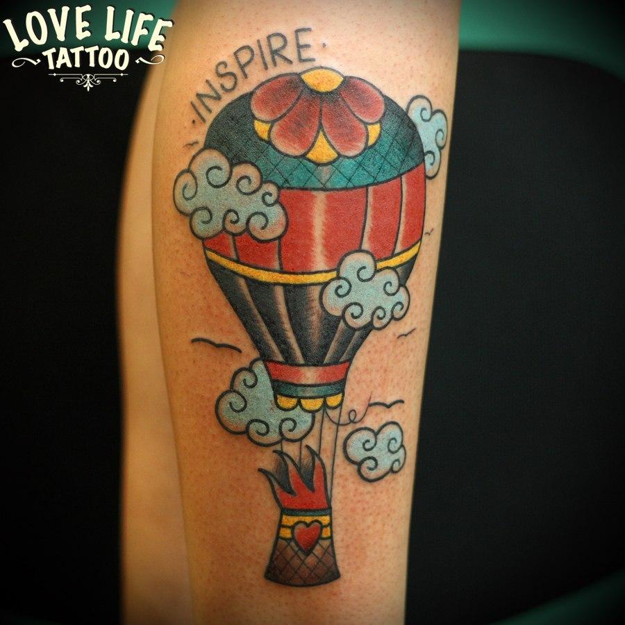 татуировка воздушного шара