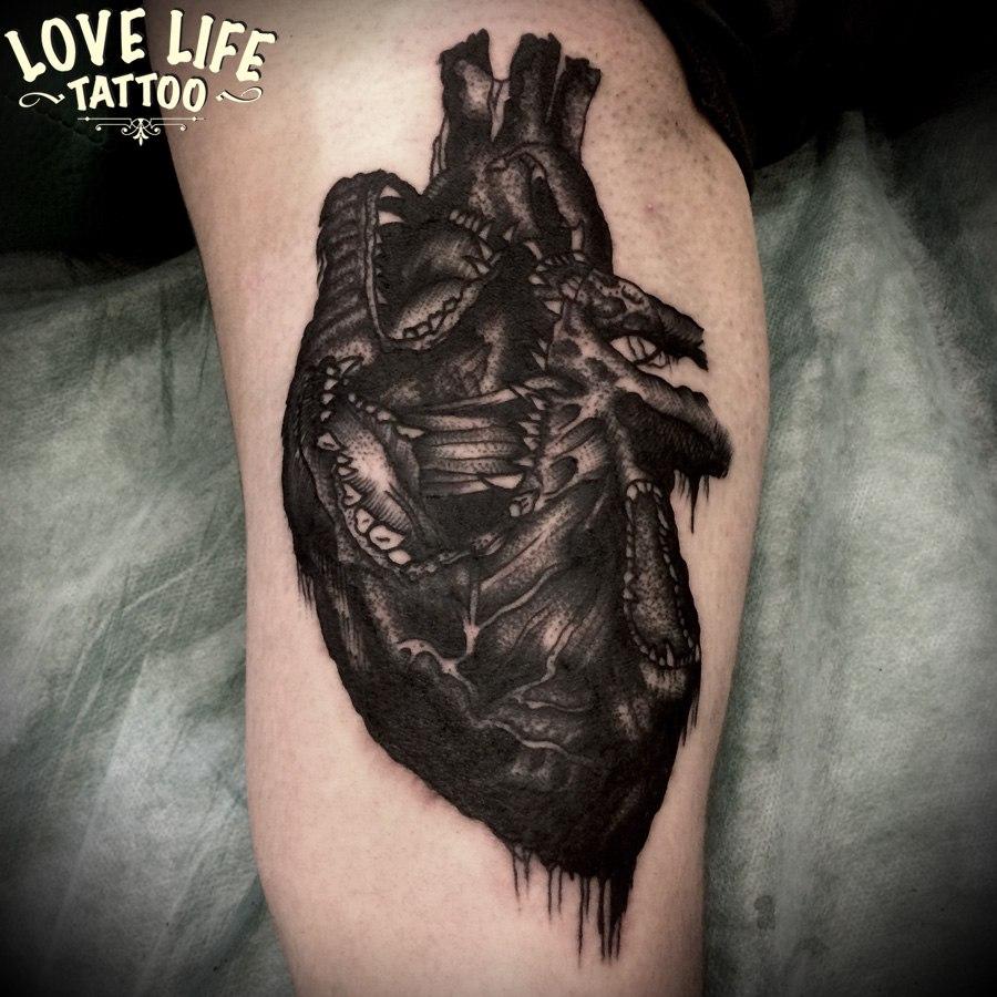 татуировка сердца