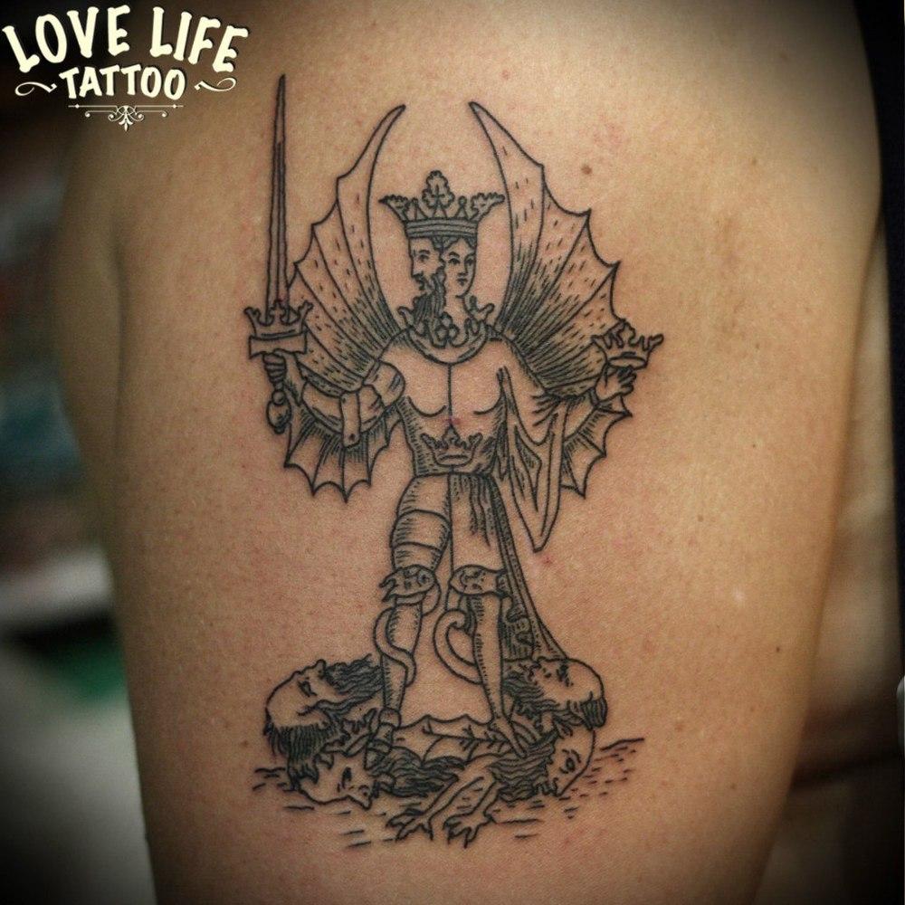 татуировка двуликого персонаже