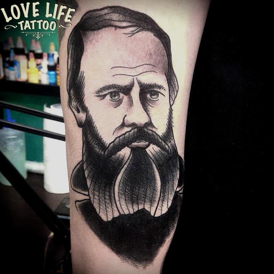 татуировка Достоевского Федора Михайловича